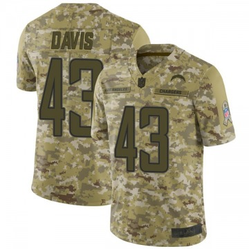 Youth Nike Los Angeles Chargers Michael Davis Camo 2018 Salute to Service Jersey - Limited