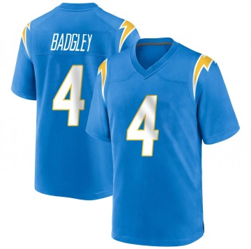 Youth Nike Los Angeles Chargers Mike Badgley Blue Powder Alternate Jersey - Game