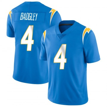 Youth Nike Los Angeles Chargers Mike Badgley Blue Powder Vapor Untouchable Alternate Jersey - Limited