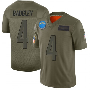 Youth Nike Los Angeles Chargers Mike Badgley Camo 2019 Salute to Service Jersey - Limited