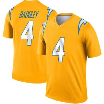 Youth Nike Los Angeles Chargers Mike Badgley Gold Inverted Jersey - Legend