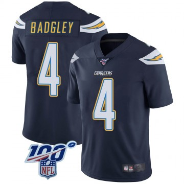 Youth Nike Los Angeles Chargers Mike Badgley Navy 100th Vapor Jersey - Limited