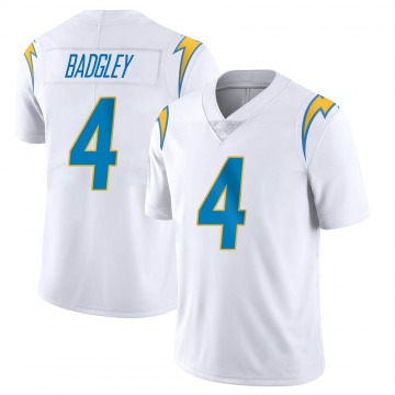 Youth Nike Los Angeles Chargers Mike Badgley White Vapor Untouchable Jersey - Limited