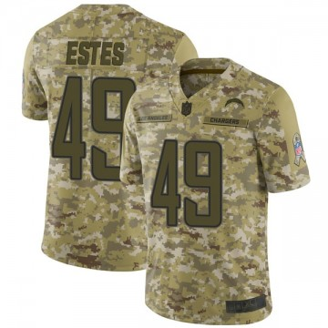 Youth Nike Los Angeles Chargers Mike Estes Camo 2018 Salute to Service Jersey - Limited