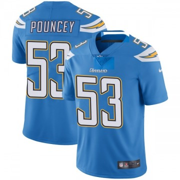 Youth Nike Los Angeles Chargers Mike Pouncey Blue Powder Vapor Untouchable Alternate Jersey - Limited