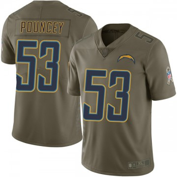 Youth Nike Los Angeles Chargers Mike Pouncey Green 2017 Salute to Service Jersey - Limited