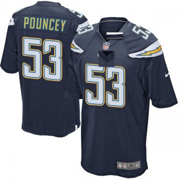 Youth Nike Los Angeles Chargers Mike Pouncey Navy Team Color Jersey - Game