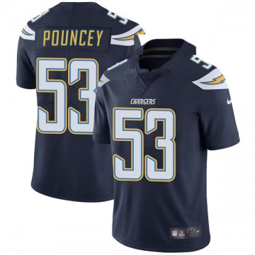 Youth Nike Los Angeles Chargers Mike Pouncey Navy Team Color Vapor Untouchable Jersey - Limited
