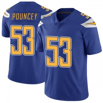 Youth Nike Los Angeles Chargers Mike Pouncey Royal Color Rush Vapor Untouchable Jersey - Limited