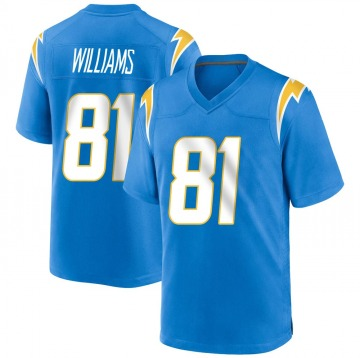 Youth Nike Los Angeles Chargers Mike Williams Blue Powder Alternate Jersey - Game