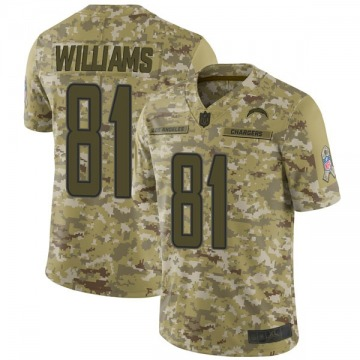 Youth Nike Los Angeles Chargers Mike Williams Camo 2018 Salute to Service Jersey - Limited