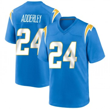 Youth Nike Los Angeles Chargers Nasir Adderley Blue Powder Alternate Jersey - Game