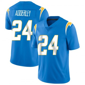Youth Nike Los Angeles Chargers Nasir Adderley Blue Powder Vapor Untouchable Alternate Jersey - Limited