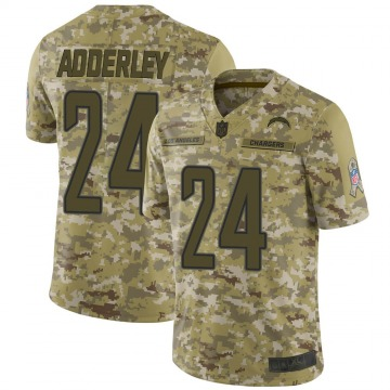 Youth Nike Los Angeles Chargers Nasir Adderley Camo 2018 Salute to Service Jersey - Limited