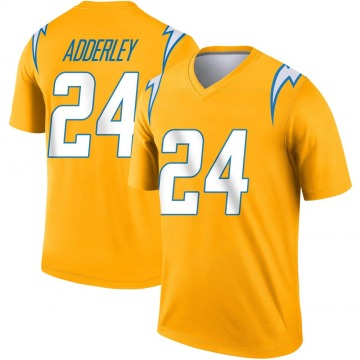 Youth Nike Los Angeles Chargers Nasir Adderley Gold Inverted Jersey - Legend