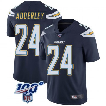Youth Nike Los Angeles Chargers Nasir Adderley Navy 100th Vapor Jersey - Limited