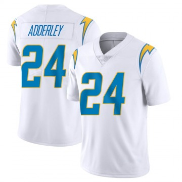 Youth Nike Los Angeles Chargers Nasir Adderley White Vapor Untouchable Jersey - Limited