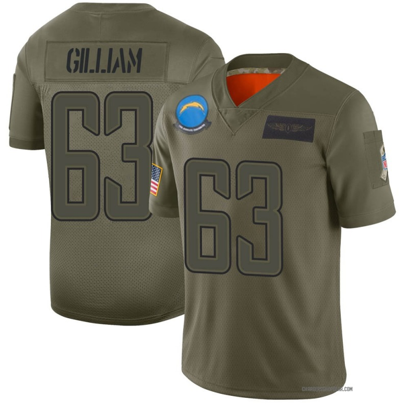 Youth Nike Los Angeles Chargers Nathan Gilliam Camo 2019 Salute to Service Jersey - Limited