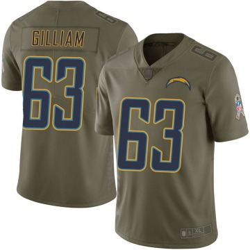 Youth Nike Los Angeles Chargers Nathan Gilliam Green 2017 Salute to Service Jersey - Limited