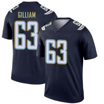 Youth Nike Los Angeles Chargers Nathan Gilliam Navy Jersey - Legend