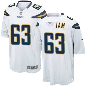 Youth Nike Los Angeles Chargers Nathan Gilliam White Jersey - Game