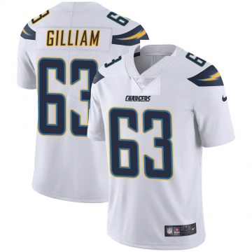 Youth Nike Los Angeles Chargers Nathan Gilliam White Vapor Untouchable Jersey - Limited