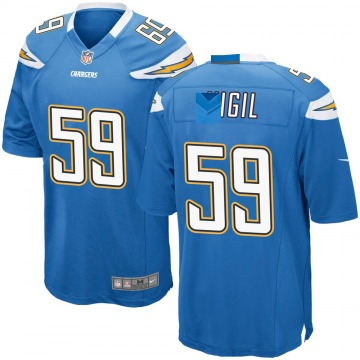 Youth Nike Los Angeles Chargers Nick Vigil Blue Powder Alternate Jersey - Game