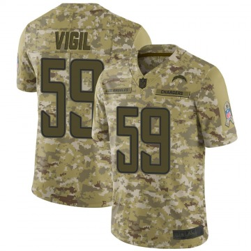 Youth Nike Los Angeles Chargers Nick Vigil Camo 2018 Salute to Service Jersey - Limited