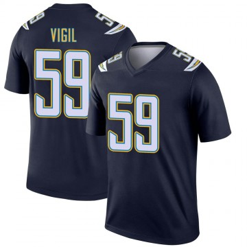 Youth Nike Los Angeles Chargers Nick Vigil Navy Jersey - Legend