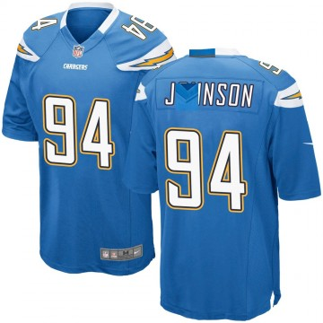 Youth Nike Los Angeles Chargers PJ Johnson Blue Powder Alternate Jersey - Game