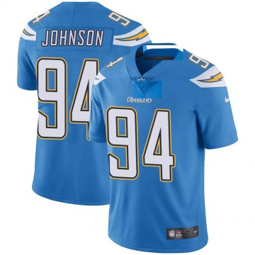 Youth Nike Los Angeles Chargers PJ Johnson Blue Powder Vapor Untouchable Alternate Jersey - Limited