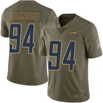 Youth Nike Los Angeles Chargers PJ Johnson Green 2017 Salute to Service Jersey - Limited