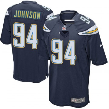 Youth Nike Los Angeles Chargers PJ Johnson Navy Team Color Jersey - Game