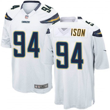 Youth Nike Los Angeles Chargers PJ Johnson White Jersey - Game