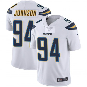 Youth Nike Los Angeles Chargers PJ Johnson White Vapor Untouchable Jersey - Limited