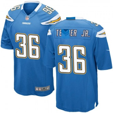Youth Nike Los Angeles Chargers Roderic Teamer Jr. Blue Powder Alternate Jersey - Game