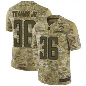 Youth Nike Los Angeles Chargers Roderic Teamer Jr. Camo 2018 Salute to Service Jersey - Limited