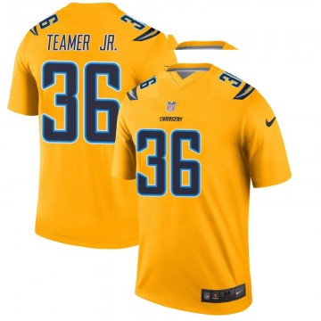 Youth Nike Los Angeles Chargers Roderic Teamer Jr. Gold Inverted Jersey - Legend