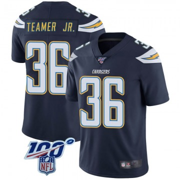 Youth Nike Los Angeles Chargers Roderic Teamer Jr. Navy 100th Vapor Jersey - Limited
