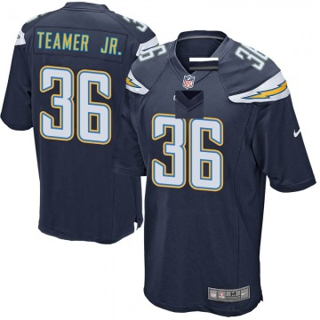 Youth Nike Los Angeles Chargers Roderic Teamer Jr. Navy Team Color Jersey - Game