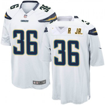 Youth Nike Los Angeles Chargers Roderic Teamer Jr. White Jersey - Game