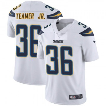 Youth Nike Los Angeles Chargers Roderic Teamer Jr. White Vapor Untouchable Jersey - Limited