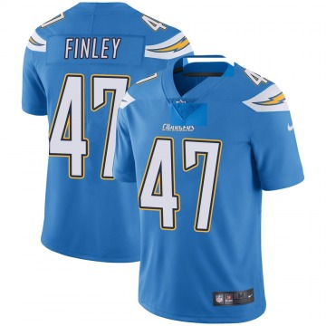Youth Nike Los Angeles Chargers Romeo Finley Blue Powder Vapor Untouchable Alternate Jersey - Limited