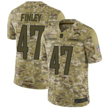 Youth Nike Los Angeles Chargers Romeo Finley Camo 2018 Salute to Service Jersey - Limited