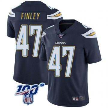 Youth Nike Los Angeles Chargers Romeo Finley Navy 100th Vapor Jersey - Limited