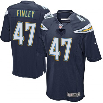 Youth Nike Los Angeles Chargers Romeo Finley Navy Team Color Jersey - Game