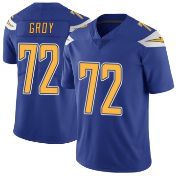 Youth Nike Los Angeles Chargers Ryan Groy Royal Color Rush Vapor Untouchable Jersey - Limited