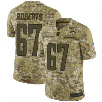Youth Nike Los Angeles Chargers Ryan Roberts Camo 2018 Salute to Service Jersey - Limited