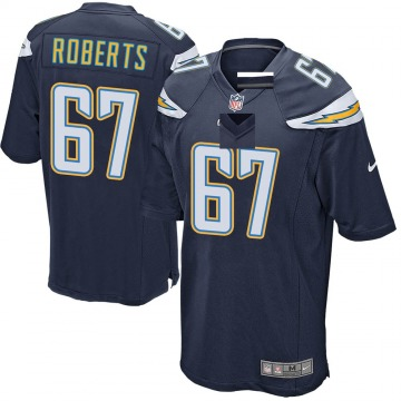 Youth Nike Los Angeles Chargers Ryan Roberts Navy Team Color Jersey - Game