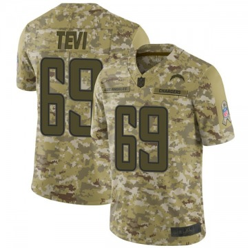 Youth Nike Los Angeles Chargers Sam Tevi Camo 2018 Salute to Service Jersey - Limited